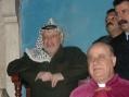 Arafat assiste à la messe de minuit à Betlehem