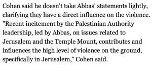 Yoram Cohen, directeur du Shin Bet, Ha'aretz, 18 novembre 2014