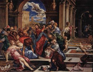 La Purification du Temple, El Greco, 1568
